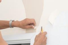 Remoção do papel de parede imagem de stock royalty free
