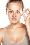 Remoção Make up Foto de Stock Royalty Free