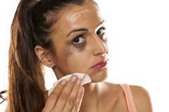 Remoção Make up Imagem de Stock Royalty Free