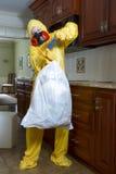 Remoção perigosa do lixo da esteira de Haz Fotografia de Stock Royalty Free