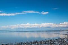 Remo na maré baixa Imagem de Stock