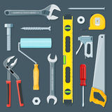 Remodel construction tools illustration set Stock Image