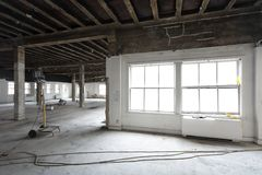 Remodelando melhorias em construção existente Fotografia de Stock Royalty Free