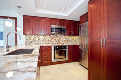 Remodeled Kitchen Royalty Free Stock Image