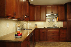 Remodeled kitchen prep area Stock Photos