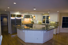 Remodeled Luxurious Modern Kitchen Stock Photo