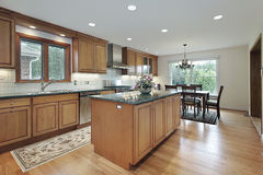 Remodeled wood kitchen Royalty Free Stock Image