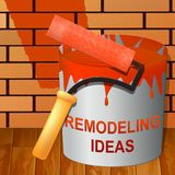 Remodeling Ideas Showing Diy Improvement Suggestions 3d Illustration. Remodeling Ideas Paint Showing Diy Improvement Suggestions 3d Illustration royalty free stock image