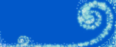 Remoinho de flocos de neve abstratos Imagens de Stock