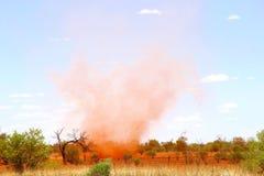 Remoinho do deserto foto de stock