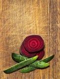 Remolachas, zanahorias, col, verduras Imágenes de archivo libres de regalías