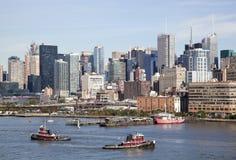 Remolcadores de la isla de Manhattan Foto de archivo libre de regalías
