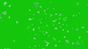 Remolinando, el triángulo giratorio 3D forma la pantalla verde almacen de metraje de vídeo