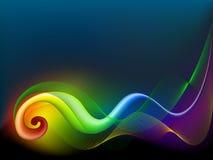 Remolino abstracto del arco iris Fotografía de archivo