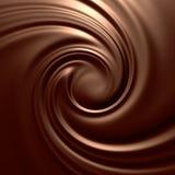 Remolino asombroso del chocolate Fotos de archivo