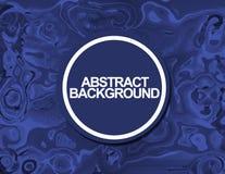Remolino azul del mármol de la vida del fondo abstracto libre illustration