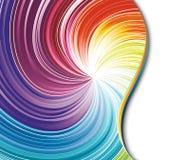 Remolino colorido del arco iris en una tarjeta Fotos de archivo