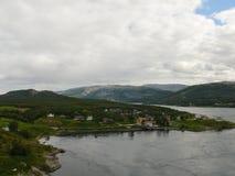 Remolino de Saltstraumen del paisaje de Noruega Foto de archivo