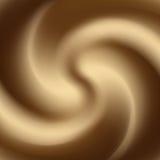 Remolino del café con leche o del chocolate y de la leche Imágenes de archivo libres de regalías