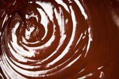 Remolino del chocolate Imagenes de archivo