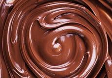 Remolino del chocolate Fotos de archivo