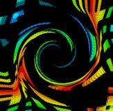 Remolino del espectro de color ilustración del vector