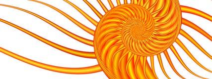 Remolino del verano - imagen del fractal stock de ilustración