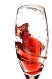 Remolino del vino rojo Fotografía de archivo