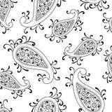 Remolino floral de Paisley Fotografía de archivo