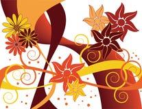 Remolino floral del otoño Stock de ilustración