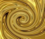 Remolino líquido del oro Fotos de archivo libres de regalías