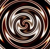 Remolino oscuro del chocolate stock de ilustración