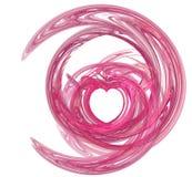 Remolino rosado del corazón Fotos de archivo