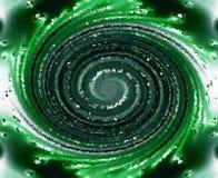 Remolino textured verde Stock de ilustración