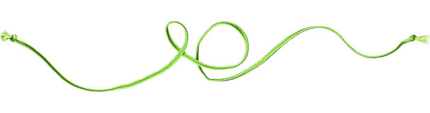 Remolino verde de la cuerda Imágenes de archivo libres de regalías