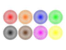 Remolinos coloreados Imágenes de archivo libres de regalías