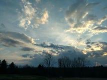 Remolinos de la nube Imagen de archivo libre de regalías