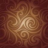 Remolinos del líquido del chocolate Imagenes de archivo