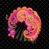 Remolinos dulces del color de rosa. ilustración del vector