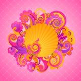 Remolinos dulces del color de rosa. Foto de archivo libre de regalías