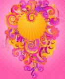 Remolinos dulces del color de rosa. Foto de archivo