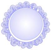 Remolinos formados círculo del azul de la insignia ilustración del vector