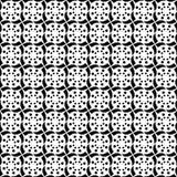 Remolinos geométricos y círculos de Dots Decorative Trendy Tribal Design de la polca de las estrellas que repiten diseño inconsút Imagen de archivo
