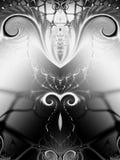 Remolinos negros simétricos del blanco ilustración del vector
