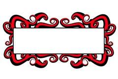 Remolinos rojos del negro de la insignia del Web page Imagenes de archivo