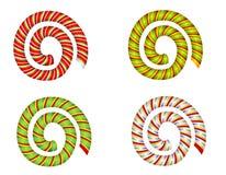 Remolinos y espirales del bastón de caramelo stock de ilustración