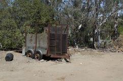 Remolque del caballo abandonado Imagen de archivo