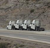 remolque humped de 4 carros foto de archivo libre de regalías