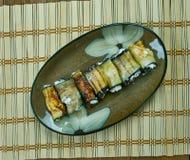 Remontées pyramidales grillées d'aubergine photos libres de droits
