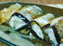 Remontées pyramidales grillées d'aubergine photo libre de droits